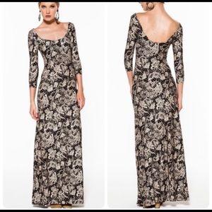 Novella royale lee maxi dress in black dahlia XS